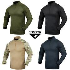Condor 101065 Tactical Military Combat Shirt  YKK Zips Olive Black Tan Multicam