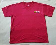Zumba Fitness T Shirt -RED L/XL NEW NWT