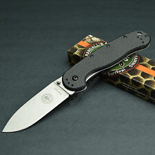 ESEE Avispa Black FRN Handle Stonewashed D2 Plain Edge Framelock Knife BRK1302