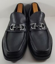 d44082394 New listing DEXTER Men s Slip-On Black Leather Moc Toe Casual Bit Loafers  Shoes (