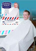 "Barber Cape Old Fashion Hair cutting cloth Black & White stripe, 45"" x 50"" long"