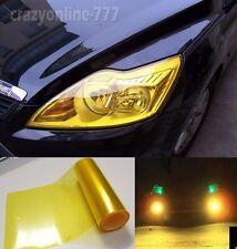 "Hot Glossy Car Headlight Tint Vinyl Wrap Sticker Film Gold Yellow BO - 12"" x 60"""