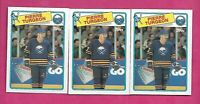 3 X 1988-89 TOPPS # 194 SABRES PIERRE TURGEON ROOKIE NRMT-MT CARD (INV# C1963)