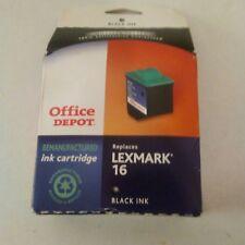 Office Depot L16 (Lexmark 16) Remanufactured Black Ink Cartridge, ODL16