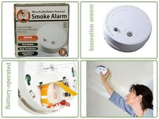 Ionization Smoke Alarm 9-Volt Battery Operated Residential/Commercial - White 4""