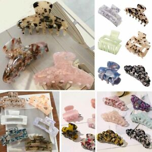 Acrylic Hairpins Hair Clip Crab Claws Accetate Print Large Women Girls Wholesale