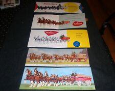 Lot of 5 Budweiser Beer 1950's-60's Vintage Folding Postcards