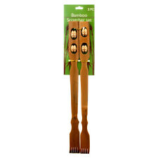 """18"""" Bamboo Therapeutic Back Scratcher Long Reach Set of 2 Antipruritic Tool"""