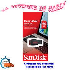 SanDisk 16Go 32Go 64Go 128Go Cruzer Blade Clé USB 2.0 Flash Drive