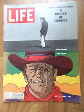 1969 Life Magazine Dusty & the Duke Movie Stars Dustin Hoffman John Wayne