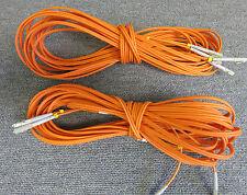2 x Fibre Optic Cable 50/125 Orange Unknown Length