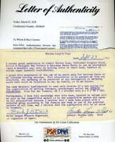 Lefty O`doul Psa Dna Coa Autographed 1960 Contract Hand Signed Authentic