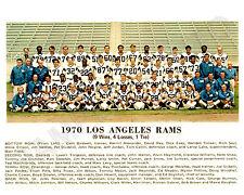 1970 LOS ANGELES RAMS NFL FOOTBALL 8X10 TEAM  PHOTO