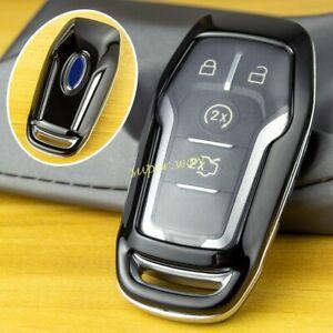 Black Car Hard Shell Key Case Cover For Ford Mondeo Mustang Edge Explorer F150