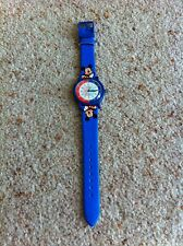 Lorus Quartz v515-6820 Disney Mickey Mouse Watch Blue Watch Vintage 1980s