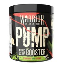 Warrior Pump Pre Workout 30 Servs Nitric Oxide Powder EXTREME Strong Muscle Pump