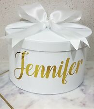 Personalised large round gift box