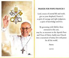 Pope Francis on front- Prayer for Pope Francis I on back - Paperstock  Holy Card