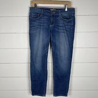 Paige Venice Womens Blue Denim Size 28 Zipper Fly 5 Pocket Ankle Skinny Jeans