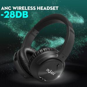 INSMA P1 ANC Active Noise Cancelling Wireless Headphones HIFI bluetooth Headset