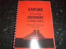 LUCAS CLASSIC MOTORCYCLE EQUIPMENT CATALOGUE FOR MODELS 1958-62 LUC10