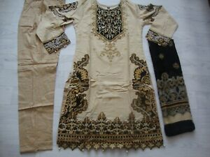 Gul Ahmed lawn design  Embroidered stitched  salwar kameez  summer only £25