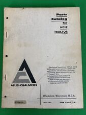 1961 ALLIS CHALMERS - HD19  CRAWLER TRACTOR  PARTS LIST MANUAL