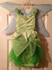 NWT DISNEY WORLD Princess Peter Pan Fairy TINKERBELL Fancy Dress COSTUME XXS 2/3