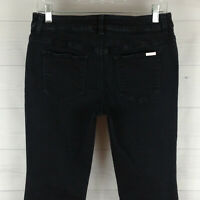 Chico's So Slimming womens size 0.5 = 6 stretch black detailed bootcut jeans EUC