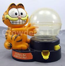 Vintage Collectible Garfield Bubble Gum Vending Coin Bank w/ Key