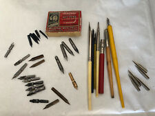 Vintage William Mitchell Empty Box Calligraphy Items Inc Faber- 29 Nibs Inc Myer