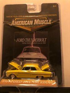 1/64 ERTL AMERICAN MUSCLE 1964 FORD FAIRLANE THUNDERBOLT YELLOW