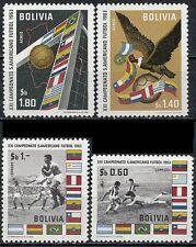 BOLIVIA 1969 WORLD CUP SOCCER FOOTBALL SC#469-70,C247-8 VF MNH SCARCE BIRDS