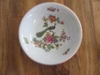 """Czechoslavakia D F Peacock Multi-color Floral -9 1/2"""" Round Serving Bowl"""