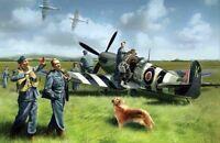 ICM 48801 - 1:48 Spitfire Mk IX with RAF Pilots /Ground Crew - Neu