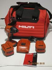 Hilti 03482657 SID 18-A CPC 18V Cordless IMPACT 2-BATTS&CHARGER&BAG DEMO/DISPLAY