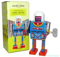 Saint John, ASTRO CAPTAIN ROBOT, Giocattolo Di Latta Retro Da Collezione