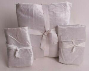 Pottery Barn Teen Shimmer Velvet FQ full queen duvet cover & shams gray *sample*