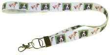 More details for brittany spaniel breed of dog lanyard key card holder perfect gift