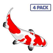Red Koi Fish Aquarium Fishing Fish  Sticker Vinyl Decal 1-1359