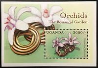 A343 UGANDA 2000 Flowers, Orchids, S/S Souvenir Sheet #2,  Mint NH