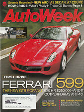 AutoWeek May 22, 2006 - Ferrari 599 - Fiat Grande Punto - Kia Sedona LX