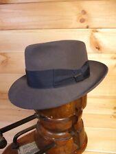 Stetson Royal Grey Fedora Hat Eu 55 Uk 6 3/4 US 6 7/8