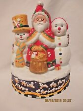 Mary Engelbreit Doorstop 2000 Santa and Snowmen 9 inches tall