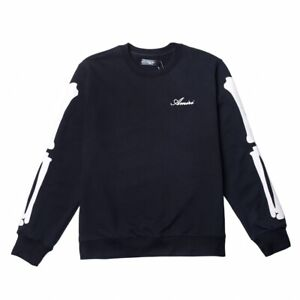 Falectoin 21SS AMIRIMIKE SKULL PATCH EMBROID CREWNECK SWEATSHIRT