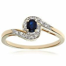 Cluster Yellow Gold Sapphire Fine Rings