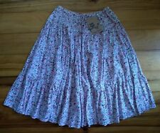 TREE CHILD floral tiered skirt SIZE 7/8 gypsy hippie bohemian tree of life NWT