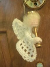 Handmade crocheted granny square angel Christmas ornament