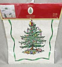 """Spode Christmas Tree Table Runner 72"""" Avanti Linens Ivory Damask"""