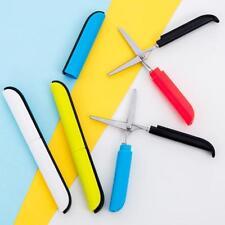 1X Pen Style Scissors With Lid Safety Children Student Handwork Scissor Portable